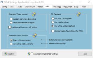 ADVANCED Codecs for Windows возможности