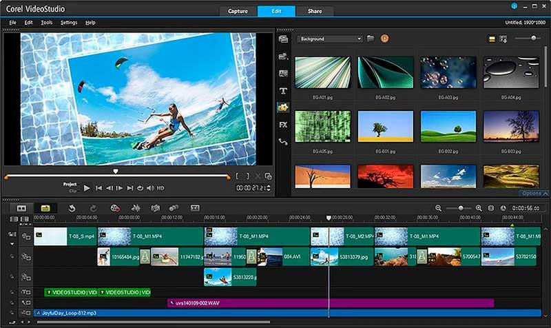 Corel VideoStudio Основные возможности