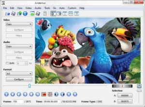 Avidemux Обработка видео файлов