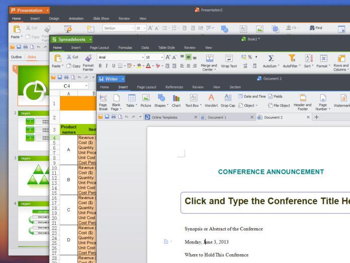 Текстовый редактор WPS Office Writer