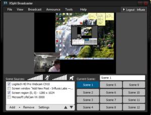 Программа XSplit Broadcaster