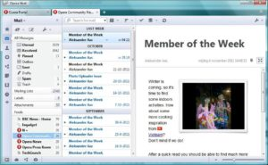 Opera mail Функционал