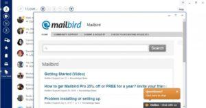 Работа с mailbird